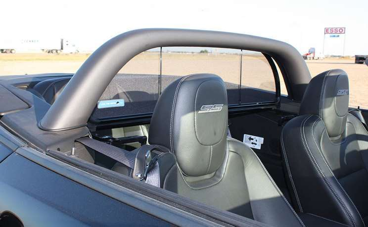 Camaro convertible wind deflector with sportbar by cdc