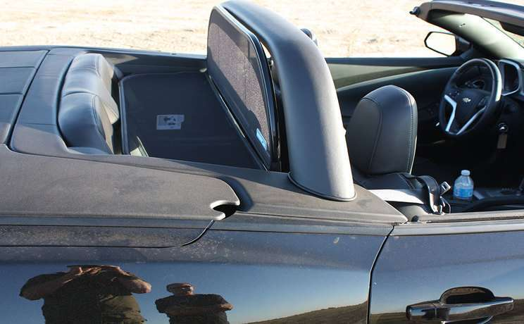 Camaro 2011 to 2015 convertible with sportbar and wind deflector by love the drive