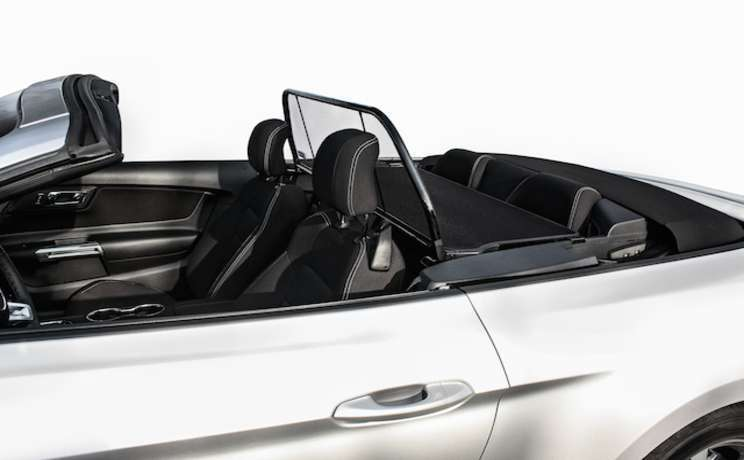 Wind deflector for convertible mustang 2015 by love the drive