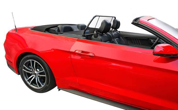 2015 mustang red gt convertible with a wind deflector by love the drive 4