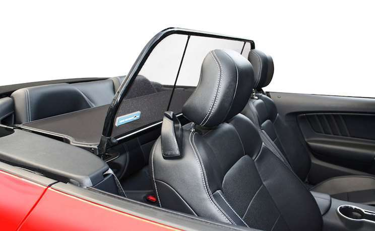 2015 mustang red gt convertible with wind deflector by love the drive
