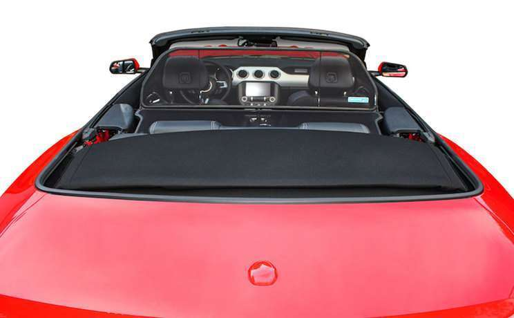 2015 mustang red gt convertible with wind deflector by love the drive 1
