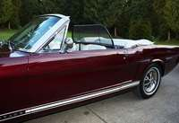 Mustang convertible 1965 to 1966 wind deflector by love the drive