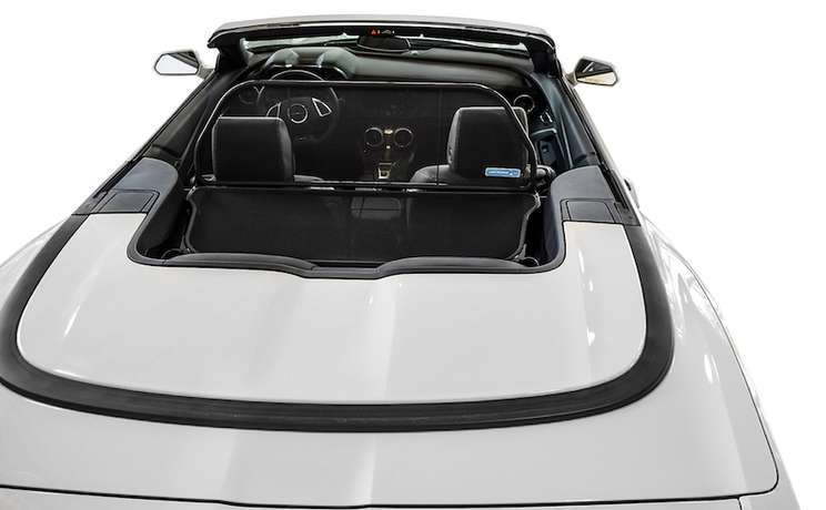 Camaro convertible wind deflector 2016 to 2020 by love the drive white rear view 1