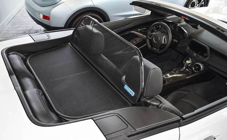 Camaro convertible wind deflector 2016 to 2020 by love the drive rear passenger side
