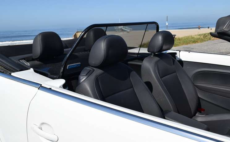 Vw beetle convertible from 2012 to 2019 wind deflector by love the drive 3