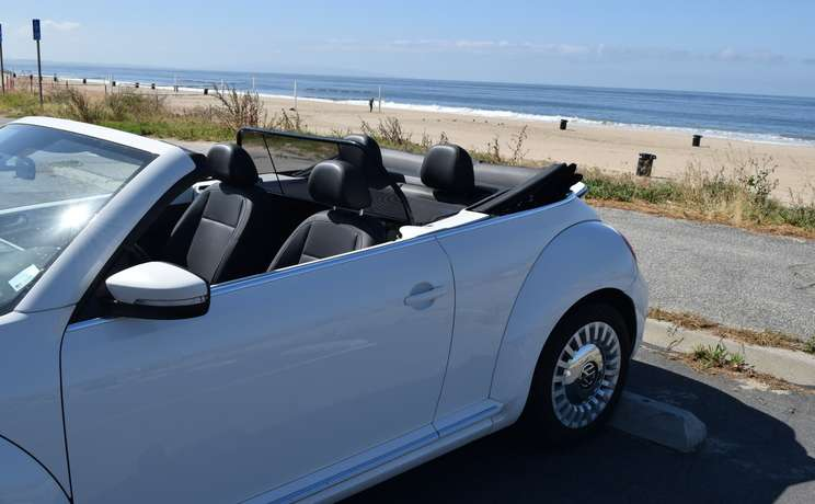 Vw beetle convertible from 2012 to 2019 wind deflector by love the drive beach 3