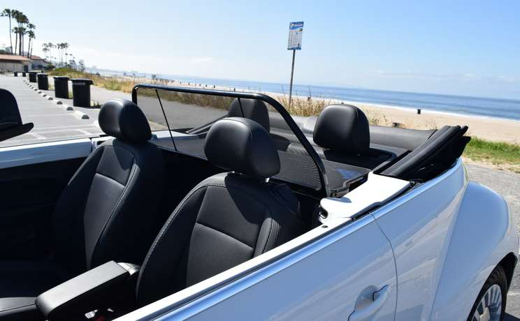 Vw beetle convertible from 2012 to 2019 wind deflector by love the drive drivers side