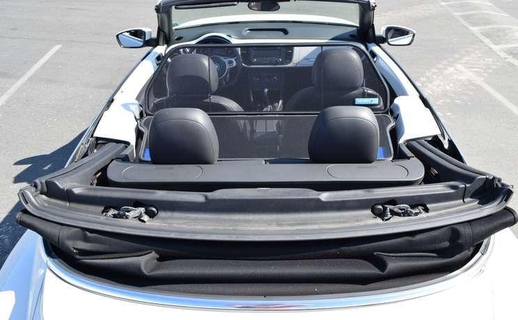 Vw beetle convertible from 2012 to 2019 wind deflector by love the drive rear view 1