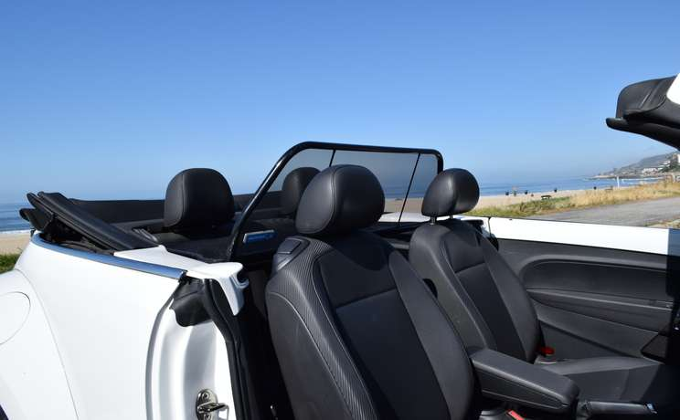 Vw beetle convertible from 2012 to 2019 wind deflector by love the drive thru wd