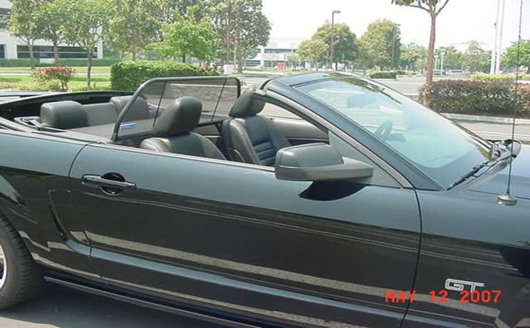 Mustang convertible wind deflector 2005 to 2014 by love the drive 3