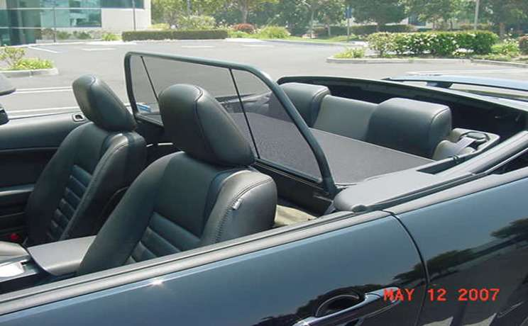 Mustang convertible wind deflector 2005 to 2014 by love the drive 1