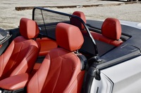 Bmw 2 convertible wind deflector by love the drive drivers side close up