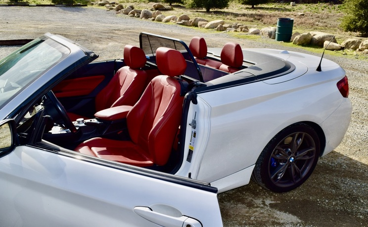 Bmw 2 convertible wind deflector by love the drive drivers side door open photo