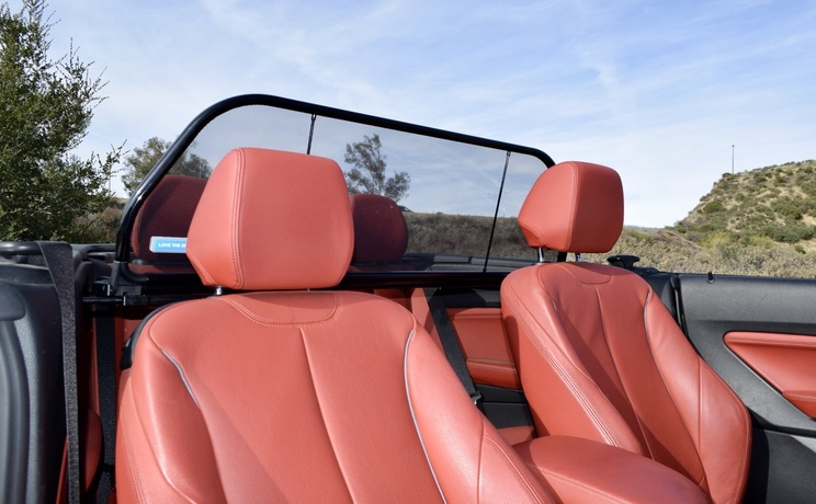 Bmw 2 convertible wind deflector by love the drive looking back photo