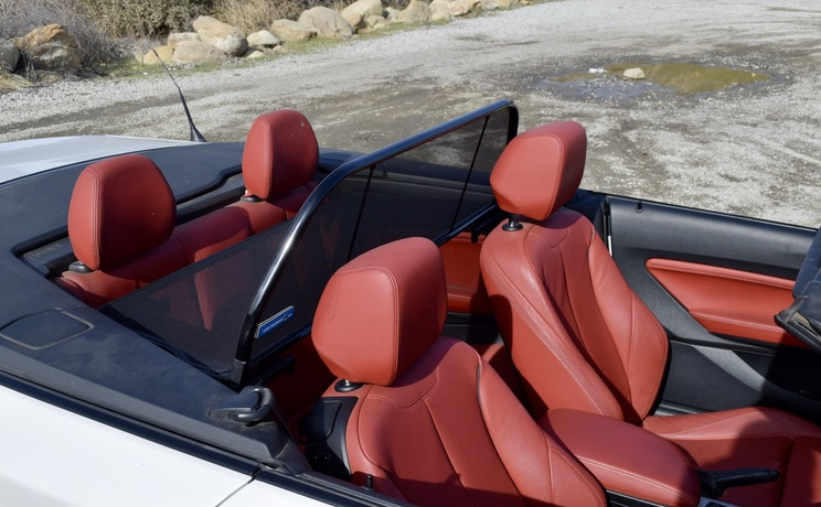 Bmw 2 convertible wind deflector by love the drive passenge side photo 4