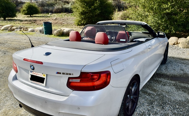 Bmw 2 convertible wind deflector by love the drive rear photo