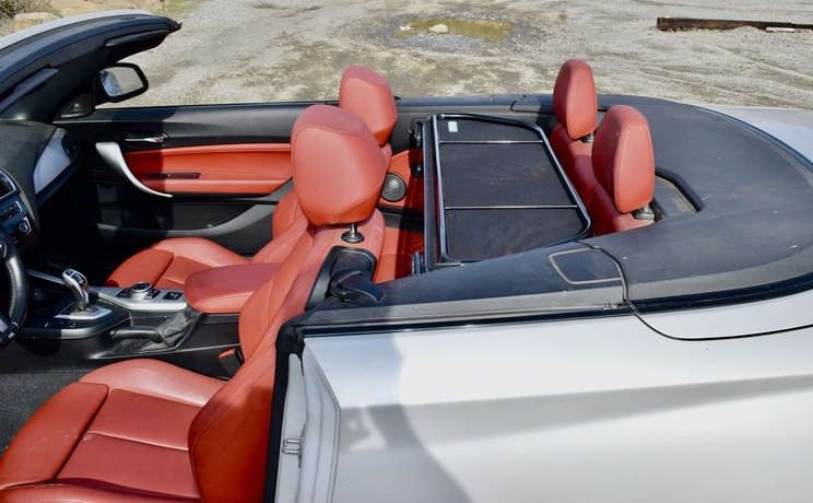 Bmw 2 convertible wind deflector by love the drive wind deflector in down position photo