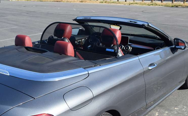 Mercedes convertible wind deflector the  1 accessory for c class mercedes rear view