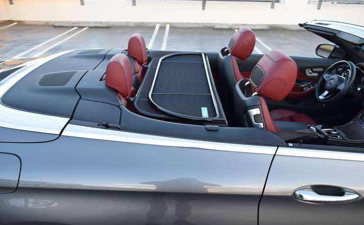 Mercedes convertible wind deflector the  1 accessory for c class mercedes