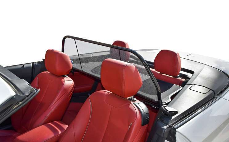 Bmw 2 convertible wind deflector by love the drive drivers side door open